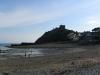 Criccieth castle and beach